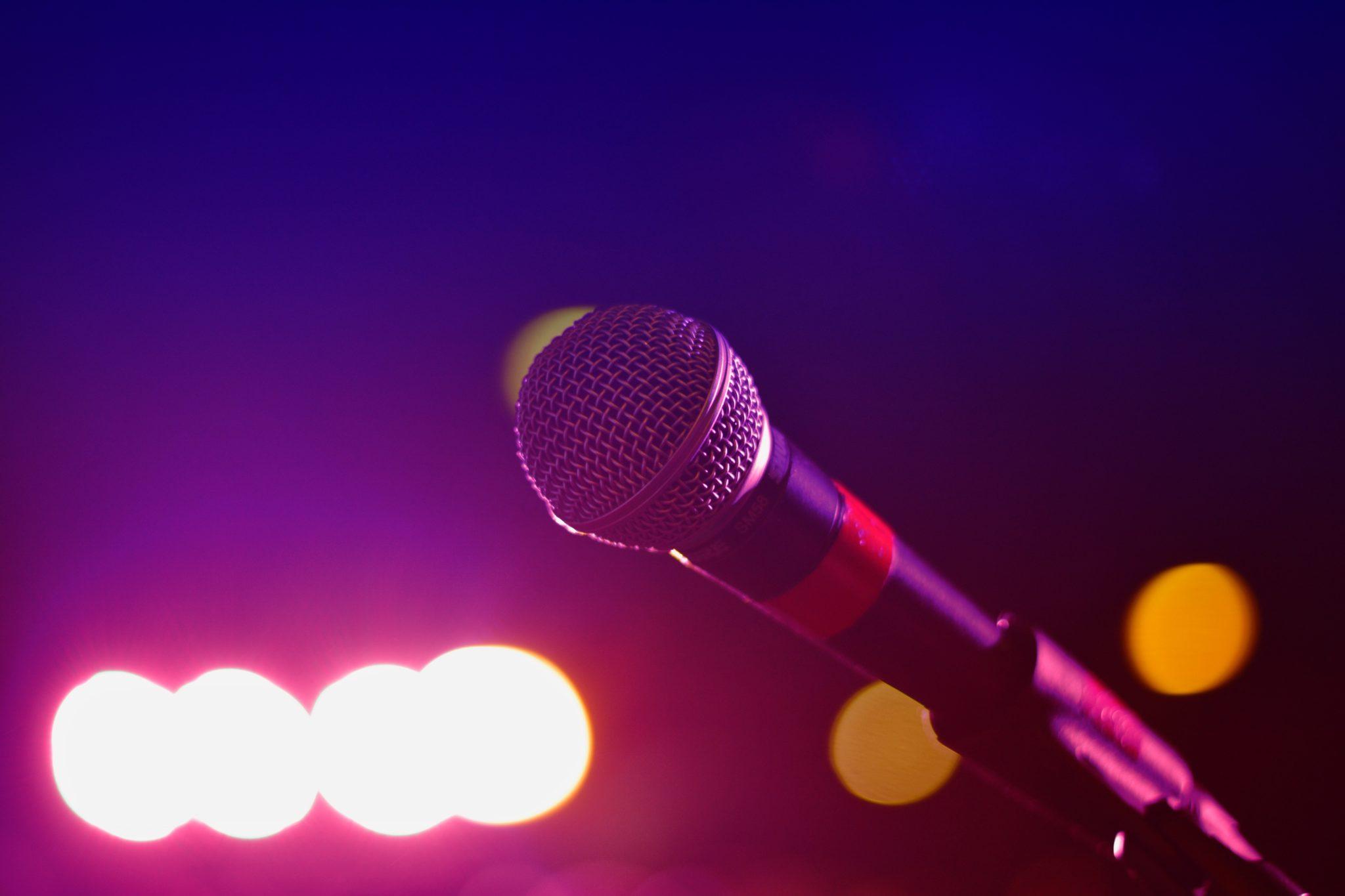 Karaoke microphone stock image